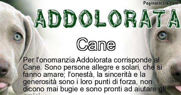 Addolorata - Animale associato al nome Addolorata