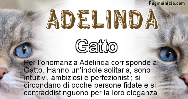 Adelinda - Animale associato al nome Adelinda