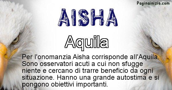 Aisha - Animale associato al nome Aisha