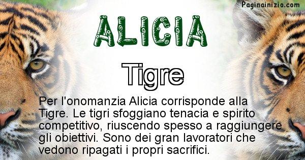 Alicia - Animale associato al nome Alicia