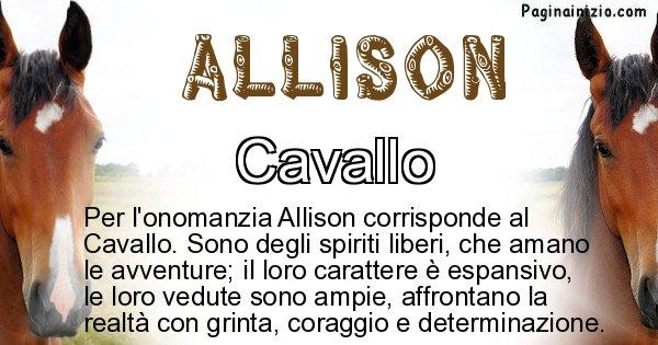 Allison - Animale associato al nome Allison