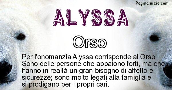 Alyssa - Animale associato al nome Alyssa