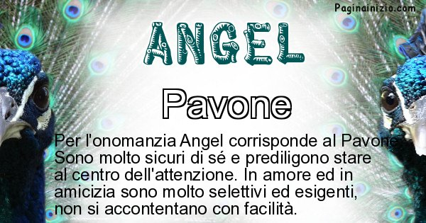 Angel - Animale associato al nome Angel