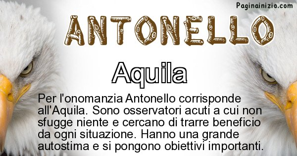 Antonello - Animale associato al nome Antonello