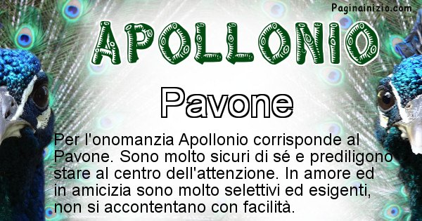 Apollonio - Animale associato al nome Apollonio