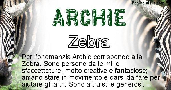 Archie - Animale associato al nome Archie