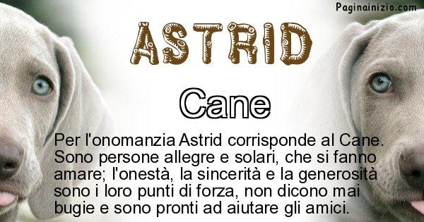 Astrid - Animale associato al nome Astrid