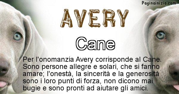 Avery - Animale associato al nome Avery