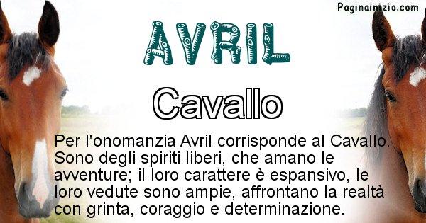Avril - Animale associato al nome Avril