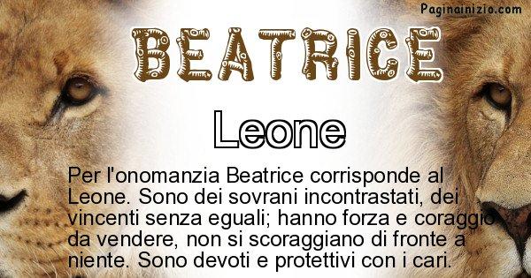 Beatrice - Animale associato al nome Beatrice