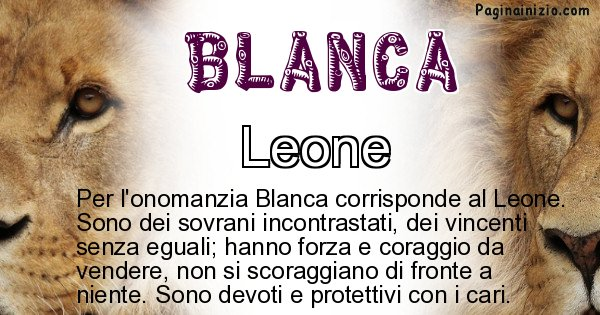 Blanca - Animale associato al nome Blanca