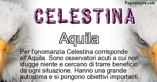 Celestina - Animale associato al nome Celestina