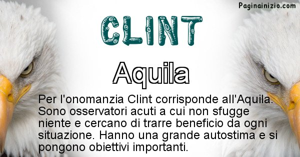 Clint - Animale associato al nome Clint