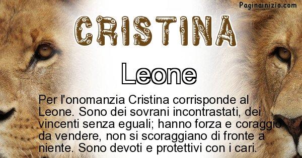 Cristina - Animale associato al nome Cristina