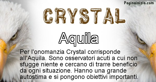 Crystal - Animale associato al nome Crystal