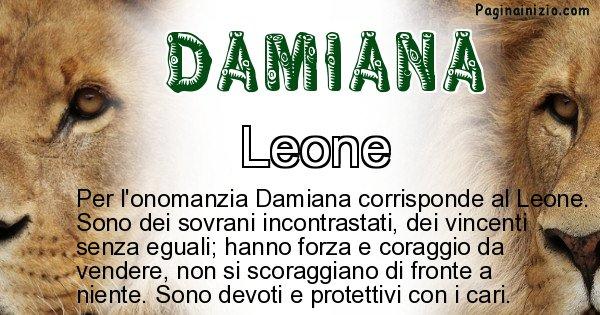 Damiana - Animale associato al nome Damiana