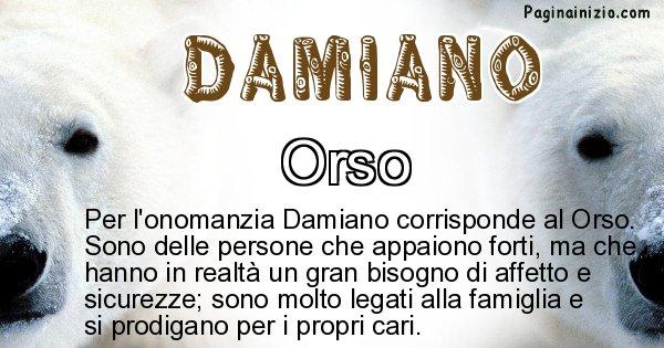 Damiano - Animale associato al nome Damiano