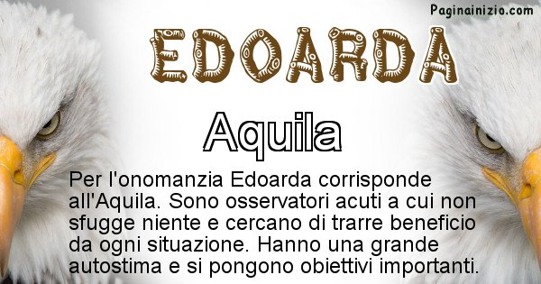 Edoarda - Animale associato al nome Edoarda