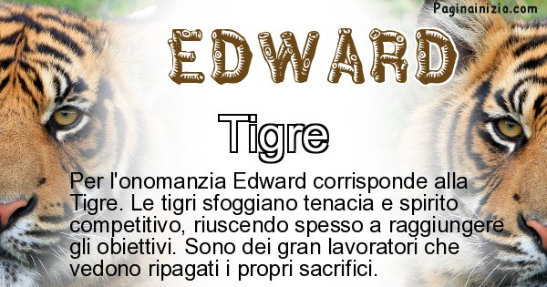 Edward - Animale associato al nome Edward