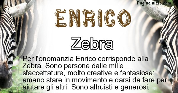 Enrico - Animale associato al nome Enrico