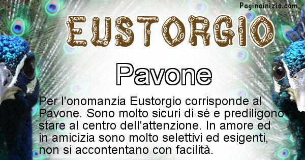 Eustorgio - Animale associato al nome Eustorgio