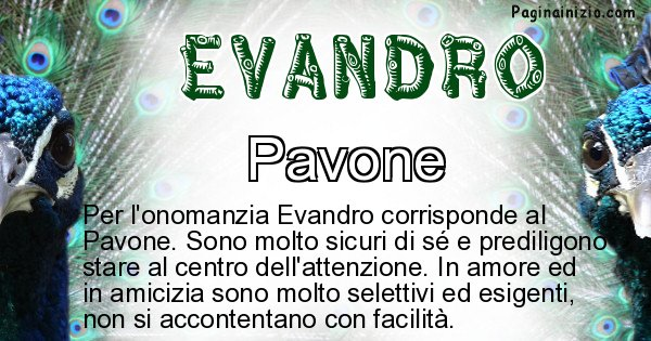Evandro - Animale associato al nome Evandro