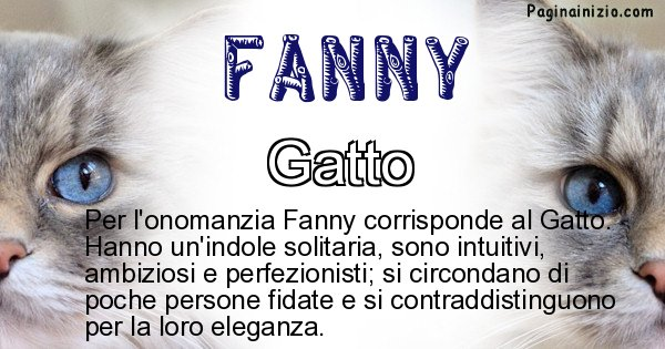 Fanny - Animale associato al nome Fanny