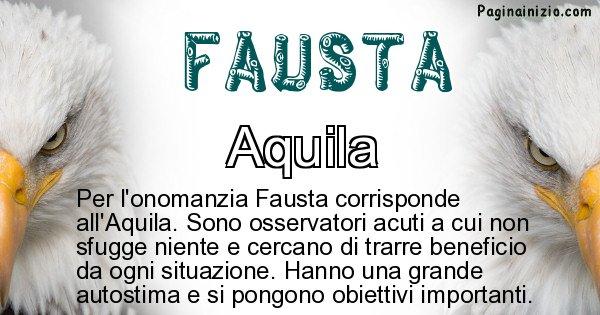 Fausta - Animale associato al nome Fausta