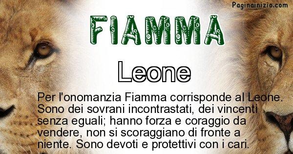 Fiamma - Animale associato al nome Fiamma
