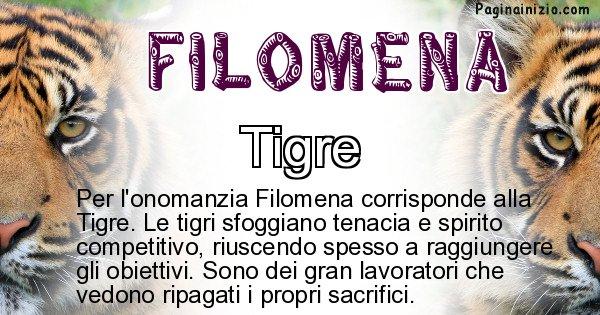 Filomena - Animale associato al nome Filomena