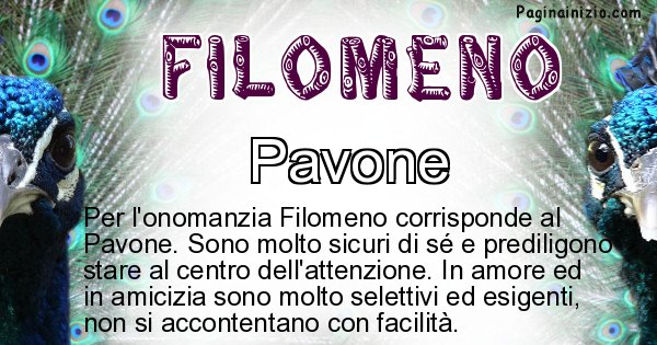 Filomeno - Animale associato al nome Filomeno