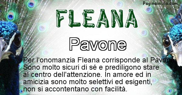 Fleana - Animale associato al nome Fleana