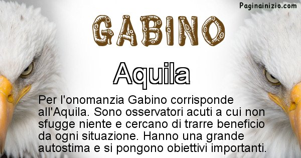 Gabino - Animale associato al nome Gabino