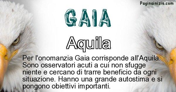 Gaia - Animale associato al nome Gaia
