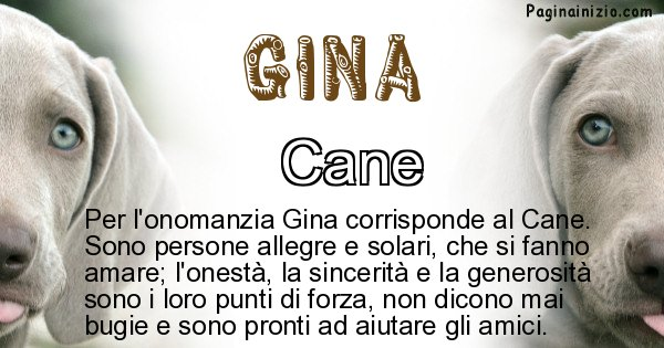 Gina - Animale associato al nome Gina