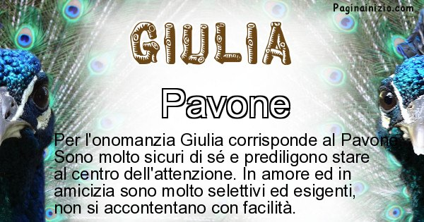 Giulia - Animale associato al nome Giulia