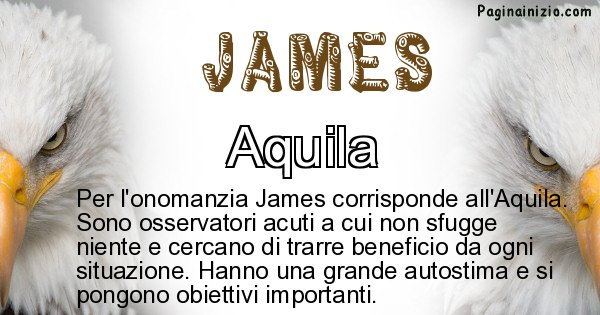 James - Animale associato al nome James