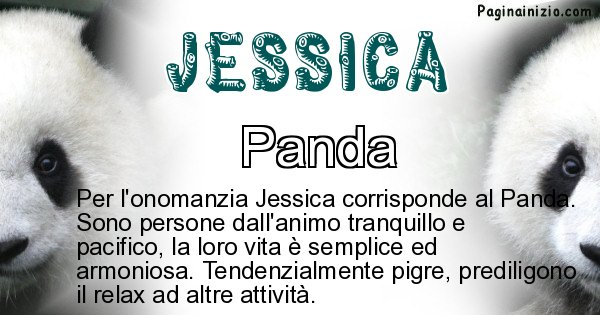 Jessica - Animale associato al nome Jessica