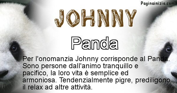 Johnny - Animale associato al nome Johnny