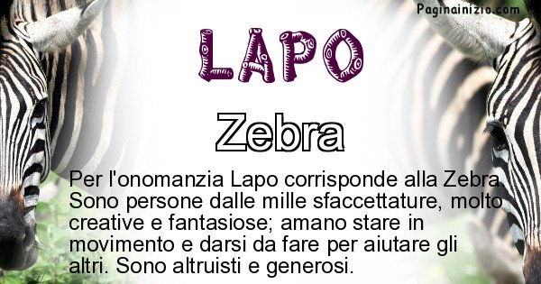 Lapo - Animale associato al nome Lapo