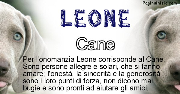 Leone - Animale associato al nome Leone