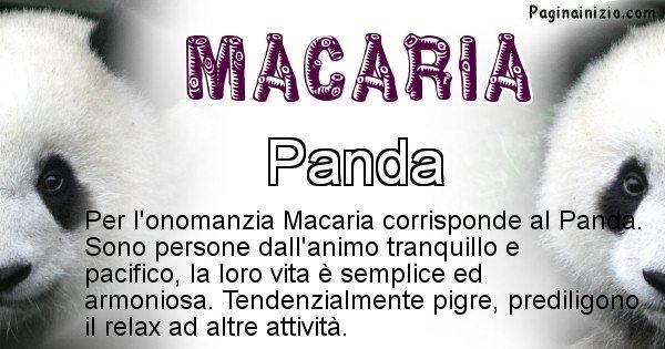 Macaria - Animale associato al nome Macaria