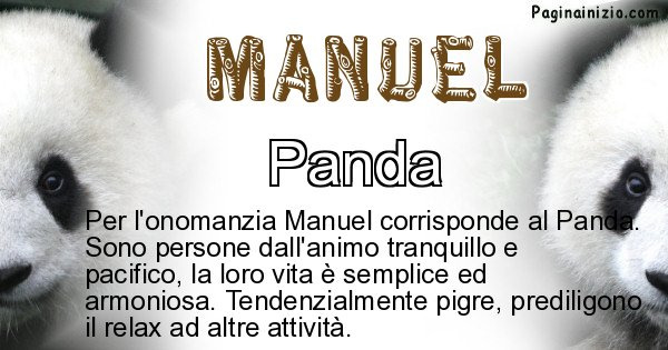 Manuel - Animale associato al nome Manuel