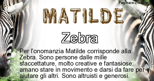 Matilde - Animale associato al nome Matilde