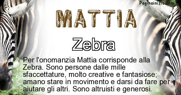 Mattia - Animale associato al nome Mattia