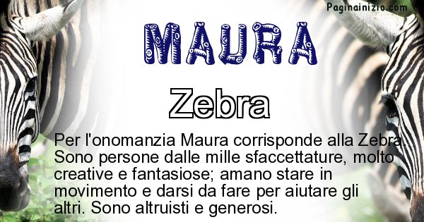 Maura - Animale associato al nome Maura
