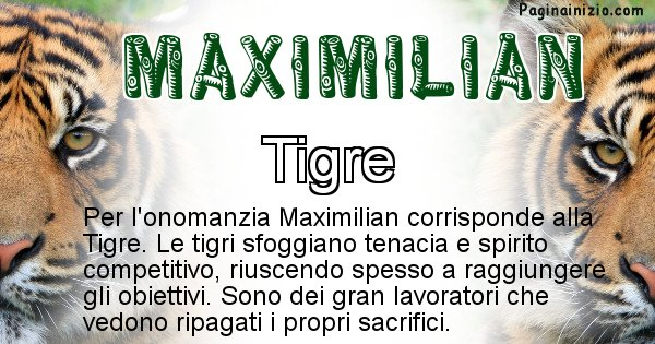 Maximilian - Animale associato al nome Maximilian