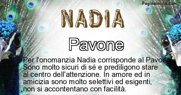 Nadia - Animale associato al nome Nadia
