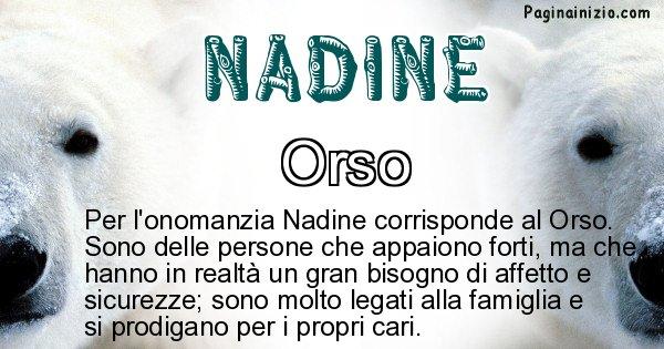 Nadine - Animale associato al nome Nadine