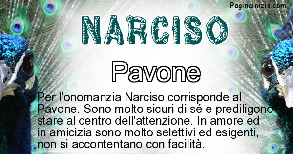 Narciso - Animale associato al nome Narciso